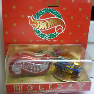 Hot Wheels 1996 Holiday Collector Edition - Blue Car Chevy Nomad with Case