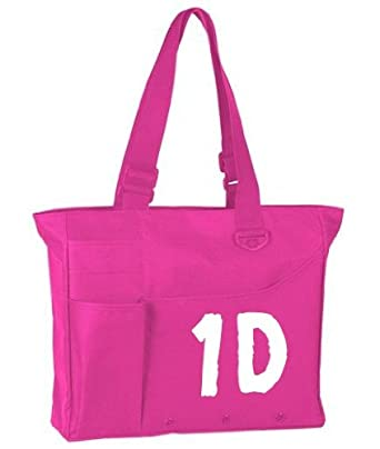 One Direction Tote Bag Fuschia / Hot Pink with White Lettering