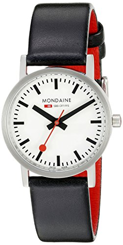 Mondaine - A658.30323.16SBB - Montre Homme - Quartz Analogique - Bracelet Cuir Noir