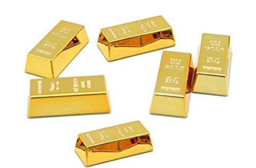 金の延べ棒 マグネット 磁石 6個 セット 金塊 レプリカ 金 ゴールド バー 本物 そっくり