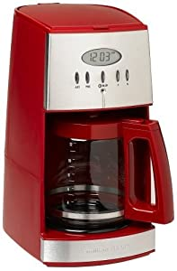 Hamilton Beach Ensemble 12-Cup Coffeemaker with Glass Carafe, Red