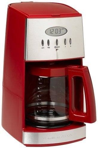 Hamilton Beach 12-Cup Coffee Maker with Glass Carafe, Ensemble Red (43253RA) (Coffee Makers Glass compare prices)