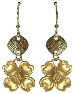 Jody Coyote Mixed Metals Dogwood Earrings SMP351