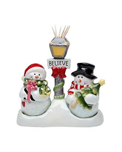 Cosmos Snowman Salt & Pepper Set/Toothpick Holder