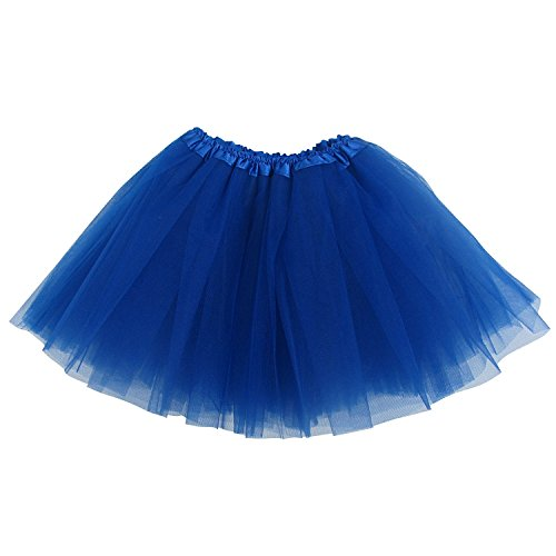 Ballerina Basic Girls Dance Dress-Up Princess Fairy Costume Dance Recital Tutu (Royal Blue) back-919320