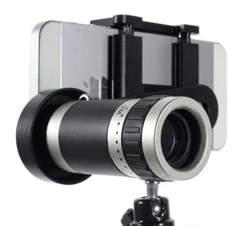 8X Zoom Universal Mobile Phone Telescope Camera Lens & Tripod+Adjustable  Holder(random Colors)and Free Ascension stylus