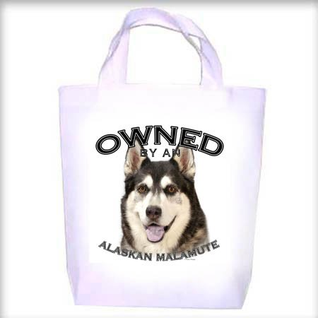 Alaskan Malamute Owned Shopping - Dog Toy - Tote Bag