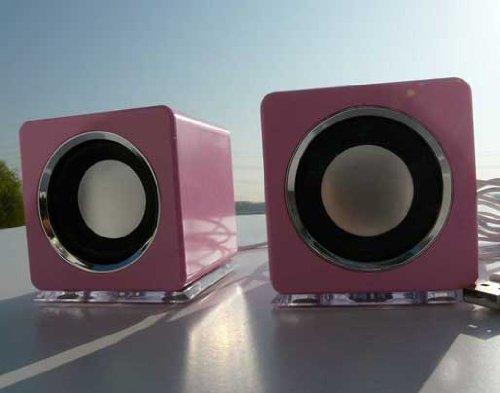 USB Lautsprecher Boxen von LinQ in Pink (DR)