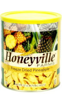 Freeze Dried Pineapple - 12 Ounce Can
