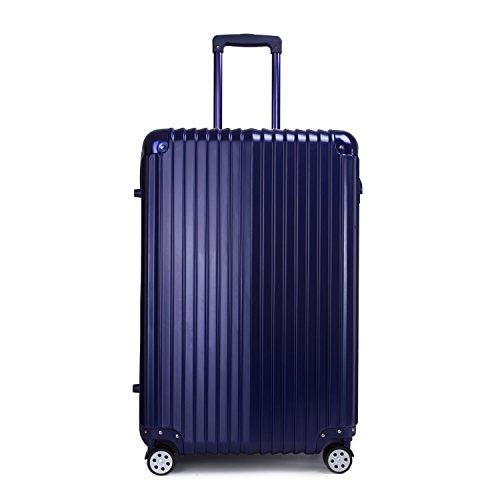 Valigia Rigida Trolley Leggero Bagagli a Mano Bagaglio con Lucchetto TSA 4 Ruote 360° Materiale ABS+PC Blu 73CM 29IN 106L