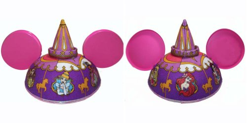 Disney Theme Park Merchandise Girls Six Princess Carousel Mickey Mouse Ears Hat