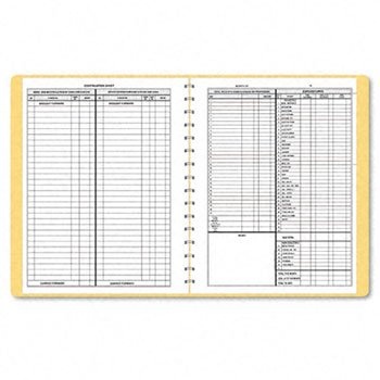 NEW Bookkeeping Record Tan Vinyl Cover 128 Pages 8 1 2 x 11 Pages 612