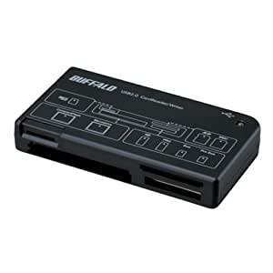 iBUFFALO カードリーダー/ライター43+7 メディア対応 ブラック BSCRA26U2BK