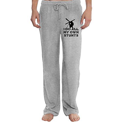 DHome Men's Jogging Pants Do My Own Stunts Ash L