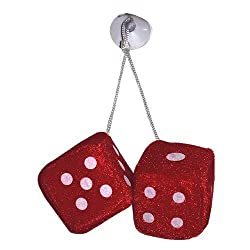 Delhitraderss -Red Dice car Hanging Perfume for - Mahindra XUV500 Old