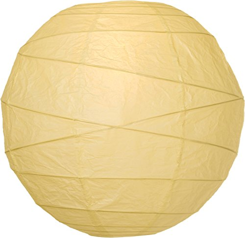 Luna Bazaar Premium Paper Lantern, Clip-On Lamp Shade (12-Inch, Ivory) - Rice Paper Chinese/Japanese Hanging Decoration - For Home Decor, Parties, and Weddings (Rice Paper Lantern 12 compare prices)