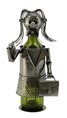 Working Woman with Briefcase by Wine Bodies, Metal Wine Bottle Holders ZB1010