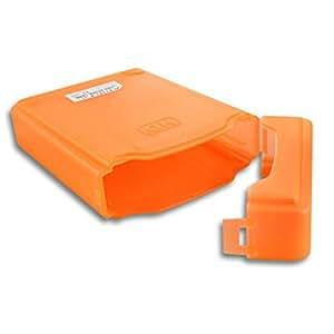 """ELEGIANT 3.5""""Portable IDE Sata HDD Boitier Externe Drive Etui Case Disque Dur Protection Plastique-orange"""