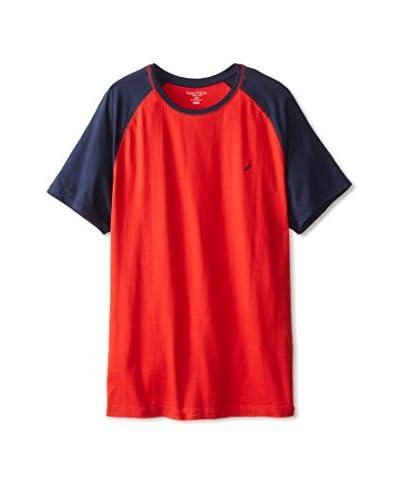 Nautica Men's Short Sleeve Raglan Crew T-Shirt