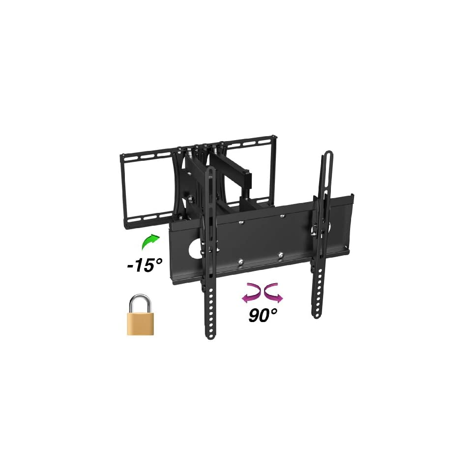 InstallerParts Flat TV Mount 26 ~ 47 Tilt/Swivel BARL227D Black Lockable Type    For LCD LED Plasma TV Flat Panel Displays    This Locking Wall Mount Bracket is Perfect for Hotels or Outdoor Locations. Fits Toshiba, Samsung, LG, Vizio, Panasonic, Sony an