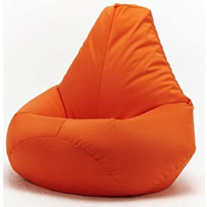 XX-L Orange Highback Beanbag Chair Water resistant Bean bags for indoor and Outdoor Use, Great for Gaming chair and Garden Chair by Beautiful Beanbags