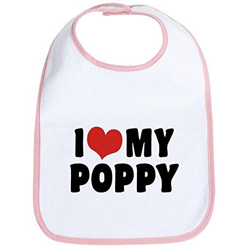 CafePress I Love My Poppy Bib - Standard Petal Pink