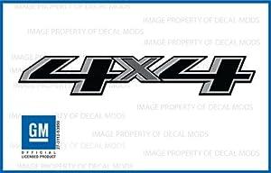 Chevy Silverado 4x4 Truck Gray & Black Stickers Decals - FB (2014-2015