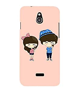 EPICCASE Couple with icecream Mobile Back Case Cover For Infocus M2 (Designer Case)