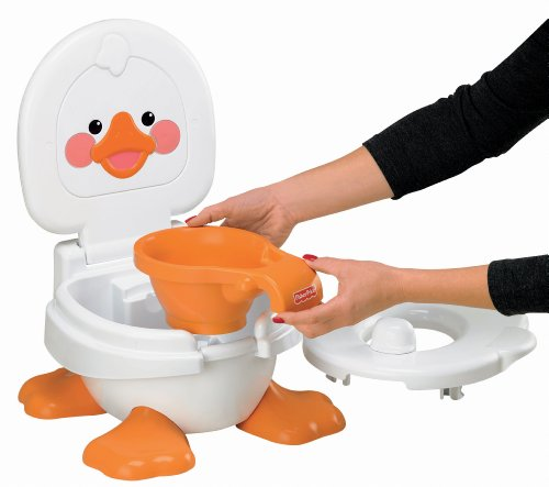 Fisher Price Ducky Fun Musical Potty Chair Step Stool