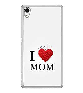 ifasho Love Quotes I love mom Back Case Cover for Sony Xperia Z4