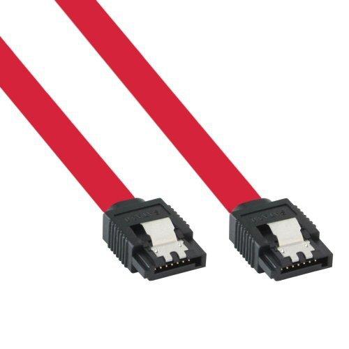 InLine SATA 6Gb/s Kabel, mit Lasche, 0,5m