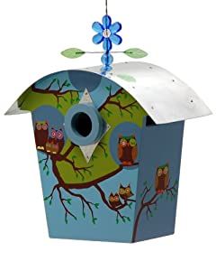 Rossos International Owl Family Retro Barn Birdhouse