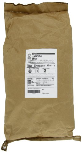 Lotus Foods Organic Jasmine Rice - Mekong Flower, 25-Pound Bag (Brown Rice Bulk compare prices)