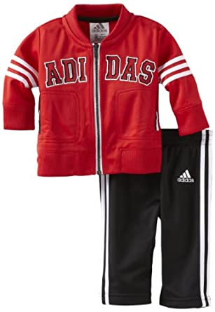 adidas Baby-Boys Infant ITB Team Tricot Set, Bright Red, 12 Months