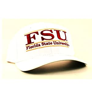 Florida State Seminoles NCAA Structured Adjustable Back Hat (White) by GAME