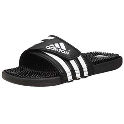Adidas Originals Adissage Unisex Adultsu0026#39; Loafers Black (black/black/running White Ftw) 8 UK ...