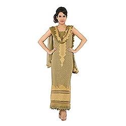 Nirali Women's Georgette Salwar Kameez UnStiched Dress Material - Free Size (mehandi)