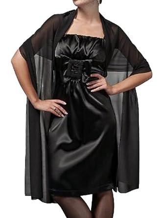 "Flora Chiffon Bridal Bridesmaid Wrap/Draping Shawl,90""L (BLACK)"