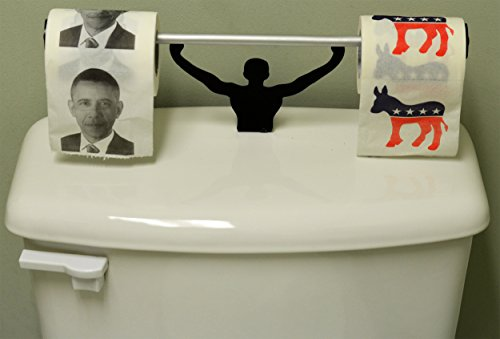 Fairly Odd Novelties Democratic President Barack Obama Toilet Paper with Strong Man Holder