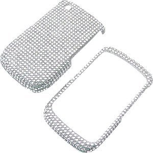 Rhinestones Shield Protector Case for BlackBerry Curve 8520 8530, Clear Full Diamond
