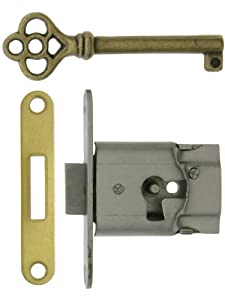 Polished Steel Full-Mortise Drawer Or Cabinet Lock. Cabinet Locks.