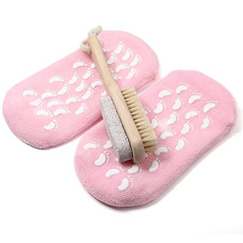 kingofheartstm-pedicure-2-in-1-foot-care-set-setola-naturale-piedi-doccia-detergente-bagno-dellimpia