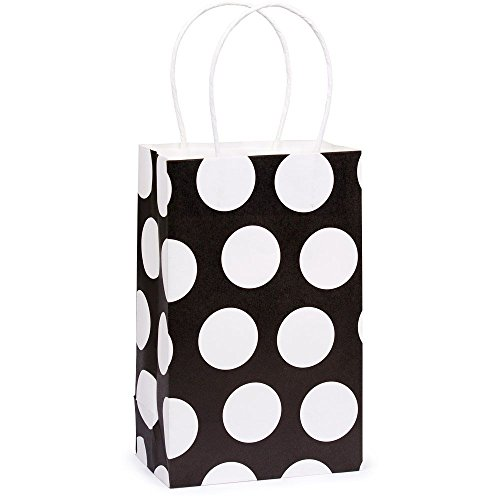 Black & White Polka Dot Gift Wrap Bags - single - 1