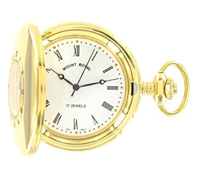 Mount Royal Pocket Watch B8M Gold Plated Half Hunter
