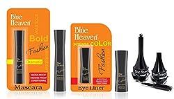 BLUE HEAVEN Fashion Eyeliner, Mascara & Artisto Kajal Combo