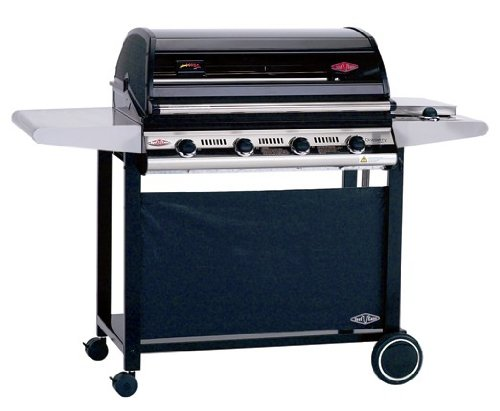 BeefEater BBQ  4 Burner Discovery  Series Deluxe  Barbecue with Side Burner and Trolley