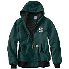 NCAA Michigan State Spartans Mens Ripstop Active Jacket by Carhartt