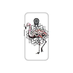 The Racoon Lean printed designer hard back mobile phone case cover for Moto G 2nd Gen. (Fractal Fl)