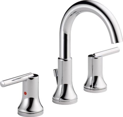 Delta Faucet 3559-MPU-DST Trinsic, Widespread Bath Faucet with metal Pop-Up, Chrome (Modern Faucet Bath compare prices)