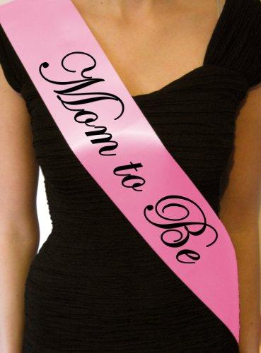 Baby Pink Mom to Be Baby Shower Sash - great gift, decoration - 1